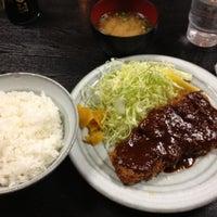 Photo taken at とんかつ 奥三河 by Tsuda K. on 2/9/2012