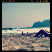 Photo taken at Sa Sesta @ Poetto Beach by Pierluigi S. on 8/24/2012