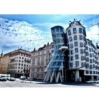 Photo taken at Dancing House by Anastasia R. on 6/23/2012