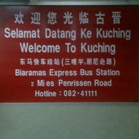 Photo taken at Kuching Bus Terminal by Mohamad Haffiz H. on 3/2/2012