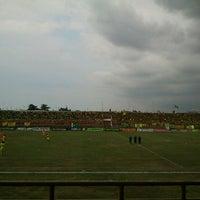 Photo taken at Stadion Kota Batik by M. Arief W. on 4/27/2012