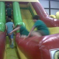 Photo taken at Jump'n Jungle by Tiana K. on 6/2/2011
