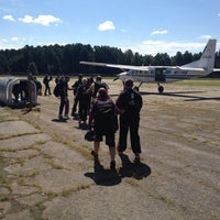 Photo taken at Skydive Carolina by Mallory D. on 9/9/2012