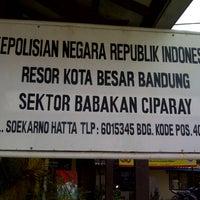 Photo taken at Polsekta Babakan Ciparay by Teguh Nova M. on 7/17/2012