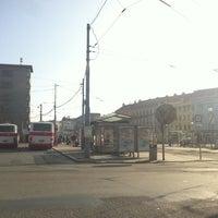 Photo taken at Mendlovo náměstí (tram, bus) by Marek Š. on 3/17/2012