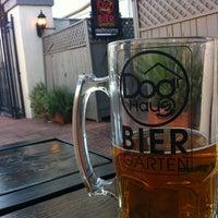 Photo taken at Dog Haus Biergarten Old Pasadena by Alex M. on 3/10/2012