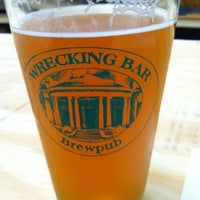 Photo taken at Wrecking Bar Brewpub by Christopher J. on 6/16/2012