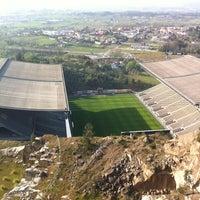 Photo taken at Estádio Municipal de Braga by Sérgio S. on 4/11/2012