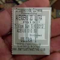 Photo taken at Marcus Crosswoods Cinema by Randall S. on 5/6/2012