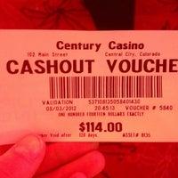 Photo taken at Century Casino &  Hotel by Jenna S. on 8/4/2012