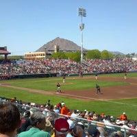 Photo taken at Scottsdale Stadium by Jon G. on 3/27/2012