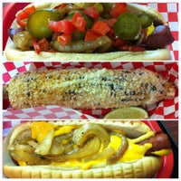 Photo taken at Fab Hot Dogs by FoodGlossETC B. on 6/12/2012