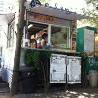 Photo taken at E-San Thai Food Cart by Robbin G. on 8/22/2012