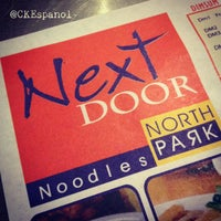 Photo taken at Next Door Noodles by North Park by CK E. on 6/22/2012