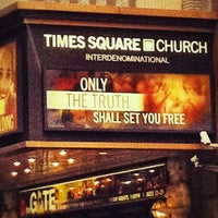Photo taken at Times Square Church by Evonne S. on 5/8/2012
