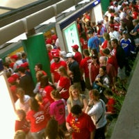 Photo taken at MetroLink - Stadium Station by Angelique on 5/23/2012
