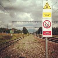 Photo taken at Платформа Лукино by Евгений О. on 8/16/2012