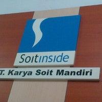 Photo taken at PT. Karya Soit Mandiri (Soit Inside) by Resanle S. on 5/1/2012