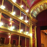 Photo taken at Teatro Degollado by Mariana Valdez G. on 7/1/2012