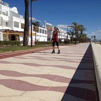 Photo taken at Paseo Maritimo by Iván R. on 4/30/2012