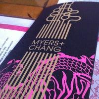 Das Foto wurde bei Myers + Chang von Carl T. am 4/23/2012 aufgenommen