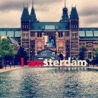 Photo taken at Museumplein by Daniel J. on 6/25/2012