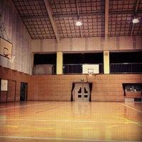 Photo taken at 戸次中学校 by capricorn__17 on 9/12/2012