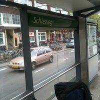 Photo taken at Tramhalte Schieweg by Niku A. on 4/30/2012