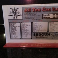 Photo taken at Shogun Sushi by Brandon A. on 7/29/2012