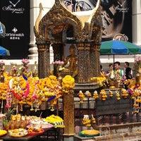 Photo taken at Erawan Shrine by lucksanawadee N. on 5/26/2012