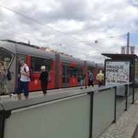 Photo taken at Hradčanská (tram) by Jiri H. on 6/26/2012