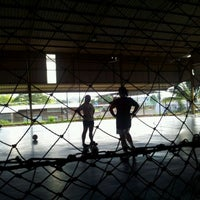 Photo taken at Futsal Centre Tamparuli by Airence K. on 4/4/2012