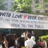 Photo taken at With Love Beer Garden at the Four Seasons Hotel Philadelphia by Louise M. on 6/8/2012