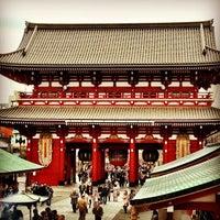 Photo taken at Hozomon Gate by Kohichi M. on 12/21/2012