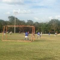 Photo taken at Cancha De Futbol Asur by P@t S. on 3/14/2013