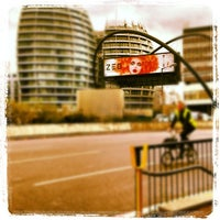 Photo taken at Old Street Roundabout by Luke B. on 10/29/2012