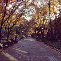 Photo taken at Locust Walk by Jacob D. on 11/10/2013