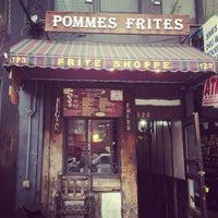 Photo taken at Pommes Frites by Patrick v. on 4/11/2013