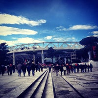 Photo taken at Stadio Olimpico by naracauliz on 2/4/2013