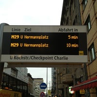 Photo taken at H Kochstr./Checkpoint Charlie by (( iSELEKTOR ). on 1/31/2013