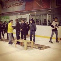 Photo taken at Хоккейный центр Амур by АЛЕКСЕЙ Г. on 4/21/2013