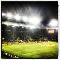Photo taken at Metalist Stadium by Vlad M. on 2/21/2013