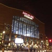 Photo taken at Lucas Oil Stadium by Ben R. on 11/11/2012