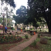 Photo taken at praça rubiao júnior by Izaias C. on 6/6/2016