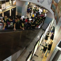 Photo taken at RapidKL KLCC (KJ10) LRT Station by Edward H. on 10/13/2012