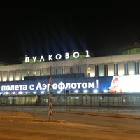 Photo taken at Pulkovo International Airport (LED) by Светлана on 3/9/2013