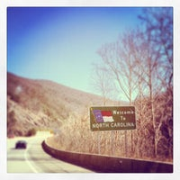 Photo taken at North Carolina / Tennessee State Line by Alison C. on 2/18/2014
