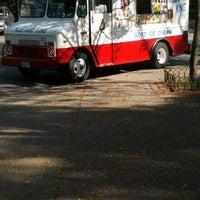 Photo taken at Kustard King Soft Ice Cream Truck by Stark on 10/5/2012