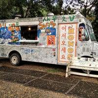 Photo taken at Hono's Shrimp Truck by Nessie on 4/19/2013