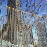 Photo taken at Harry Bertoia Sculpture - Amoco Bldg by Jeremy E. on 11/17/2012